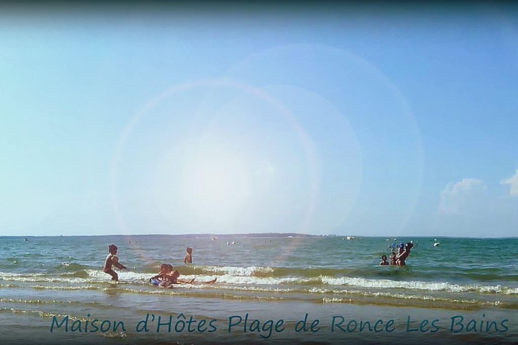 Chambre à la plage de Ronce Les Bains en maison d'hôtes La Côte d'Argent