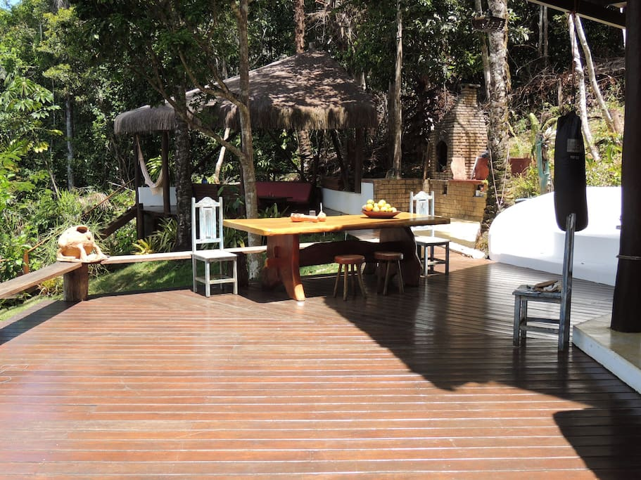 main deck for your birdwatching, monkey feeding, yoga sessions, outdoor dinners, etc.