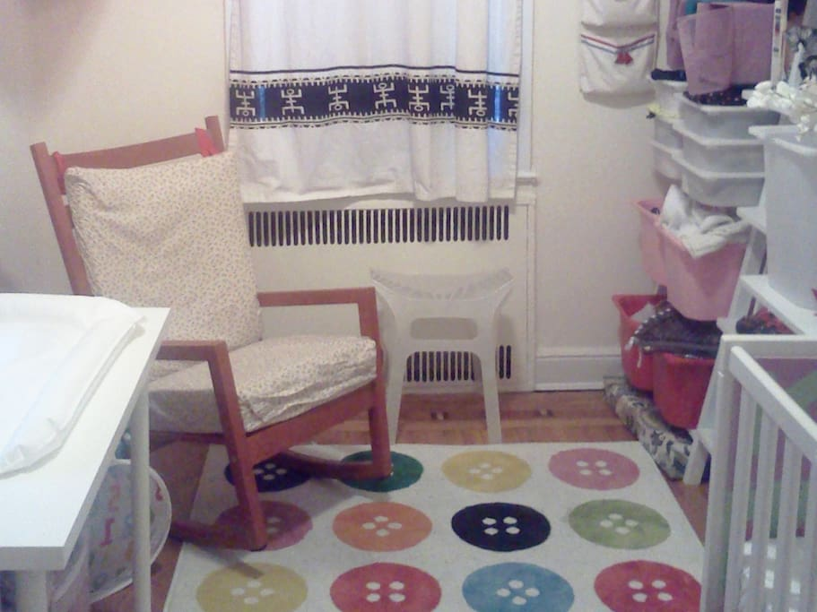 Our nursery has everything to accommodate a baby or toddler's needs.