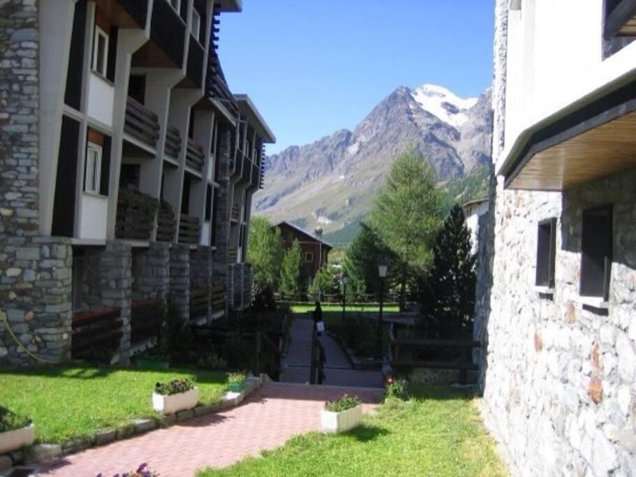 Vista dal terrazzino