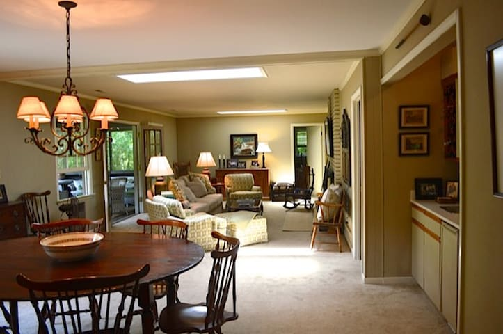 Great room; bar on the right