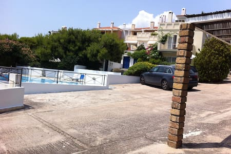 seaside apartment with big pool - Anatoliki Attiki - Appartement