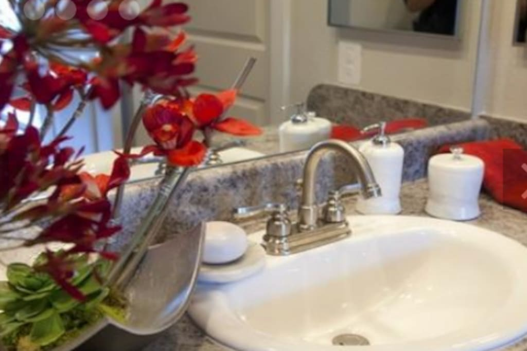 Cozy living w/ goose neck faucets