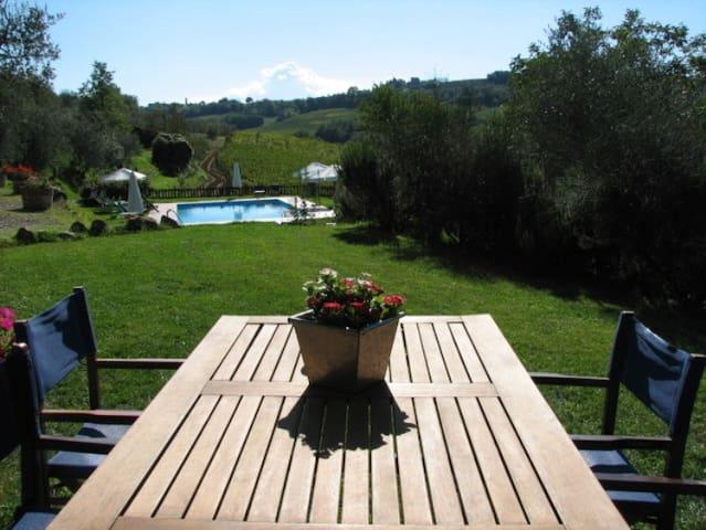 2BR Apt w/ Garden in Organic Chianti Farm w/ Pool - Tavarnelle Val di Pesa - Apartamento