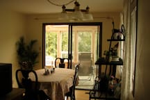 Dining Room looking into the Sun Room