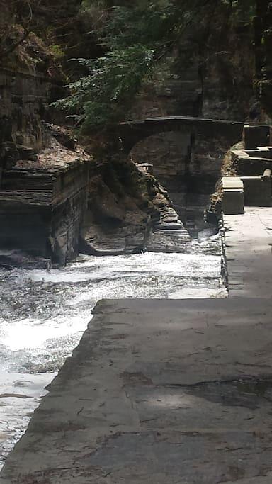 water falls at treman park.
