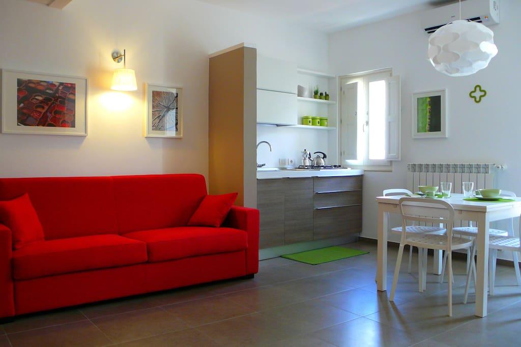 Soggiorno-Cucina (Monolocale 2° Piano)