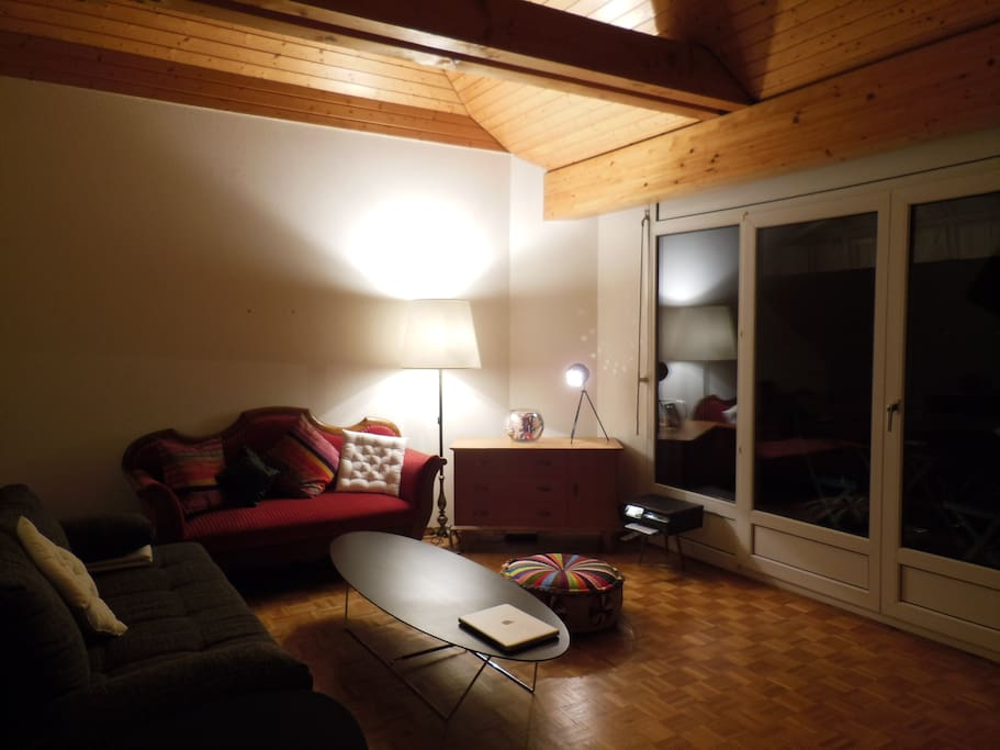 Living room with 1 sofa and 1 sofa-bed (2 persons)