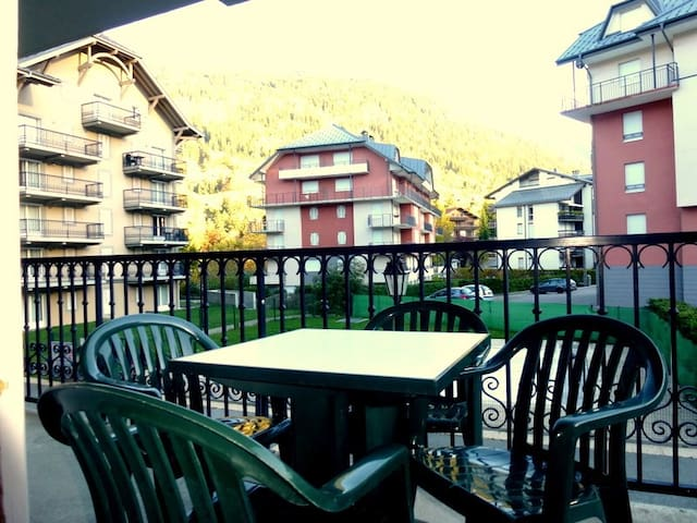 Sit outside on the balcony and soak up the sunshine.