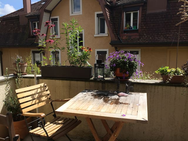 Central, quiet & cosy room in appartement - Lucerne - Apartemen