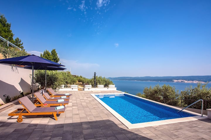 Villa Dream; private pool, eco-friendly,  sea view