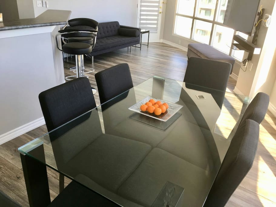 Elegant Dinning Table Set in a tastefully decorated apartment