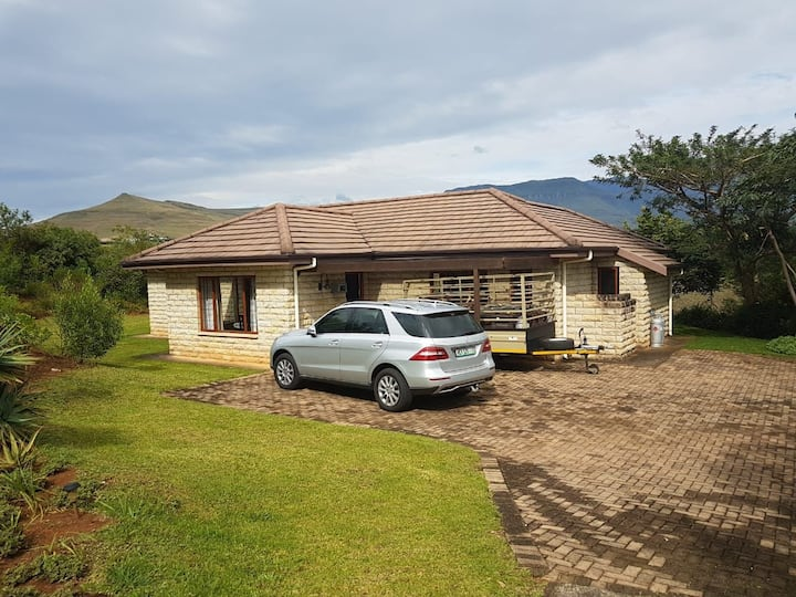House inside InKungu Lodge Drakensberg mountains.