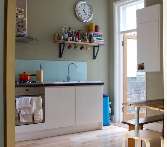 Airy and spacious kitchen/diner with direct access to private garden.