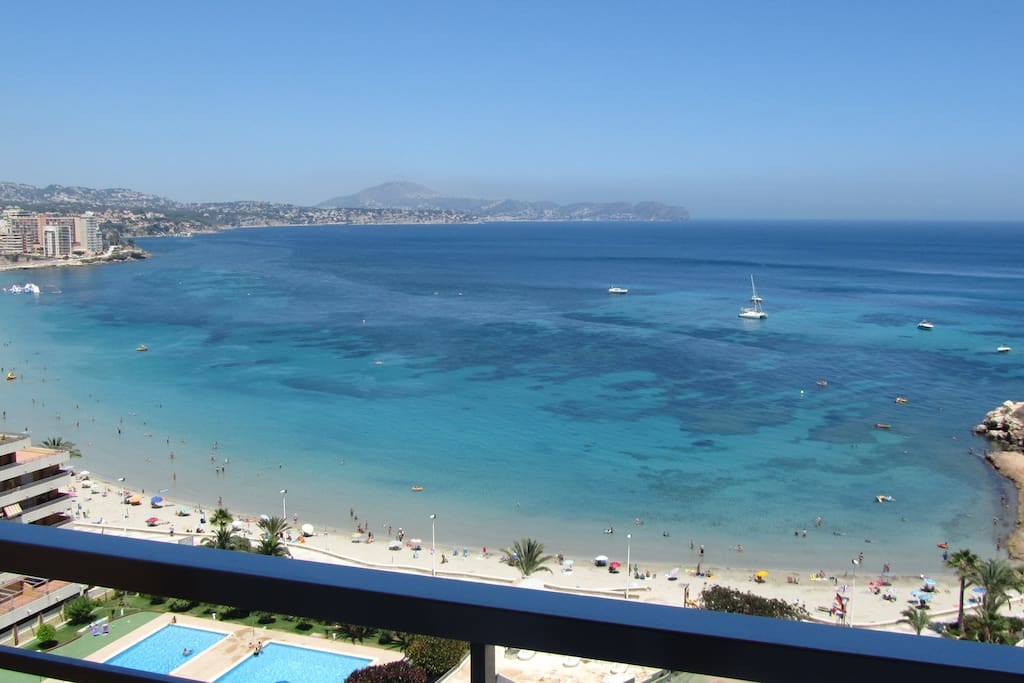 Enjoy this great seaview from two of the three balconies.