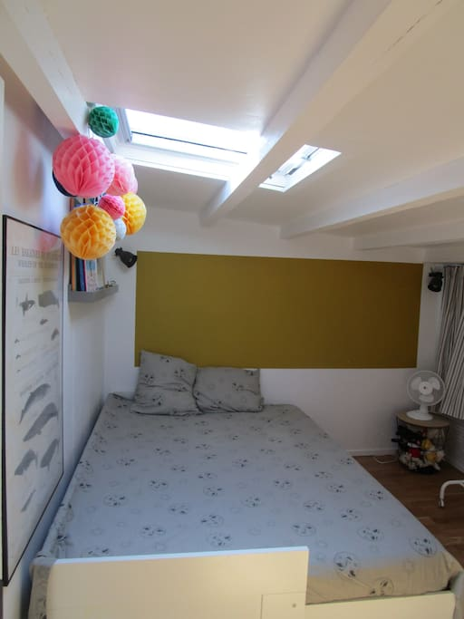 Chambre 2 (Velux occultant)