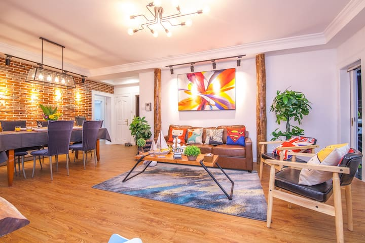 4BR&Tatami, large living room, XuJiaHui&SJTU