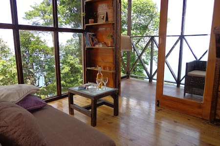 Private eco-cabin amazing sea views