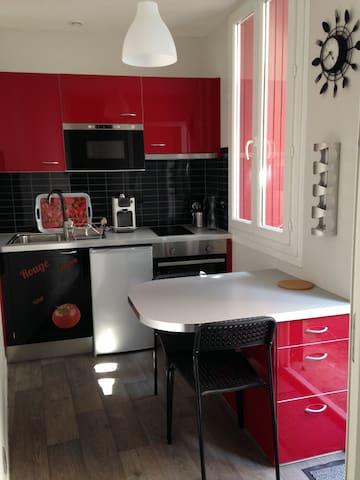 Appartement RDC avec cour privée - Bagnères-de-Bigorre - Apartmen