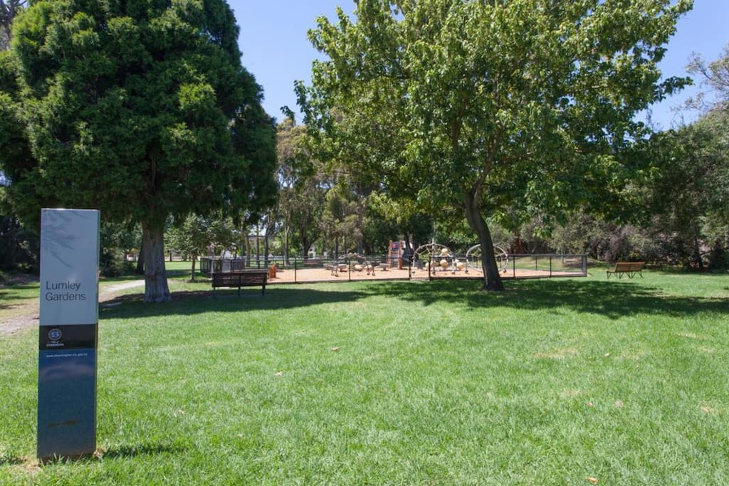 The park at your doorstep.  Great spot for BBQ and relaxing...