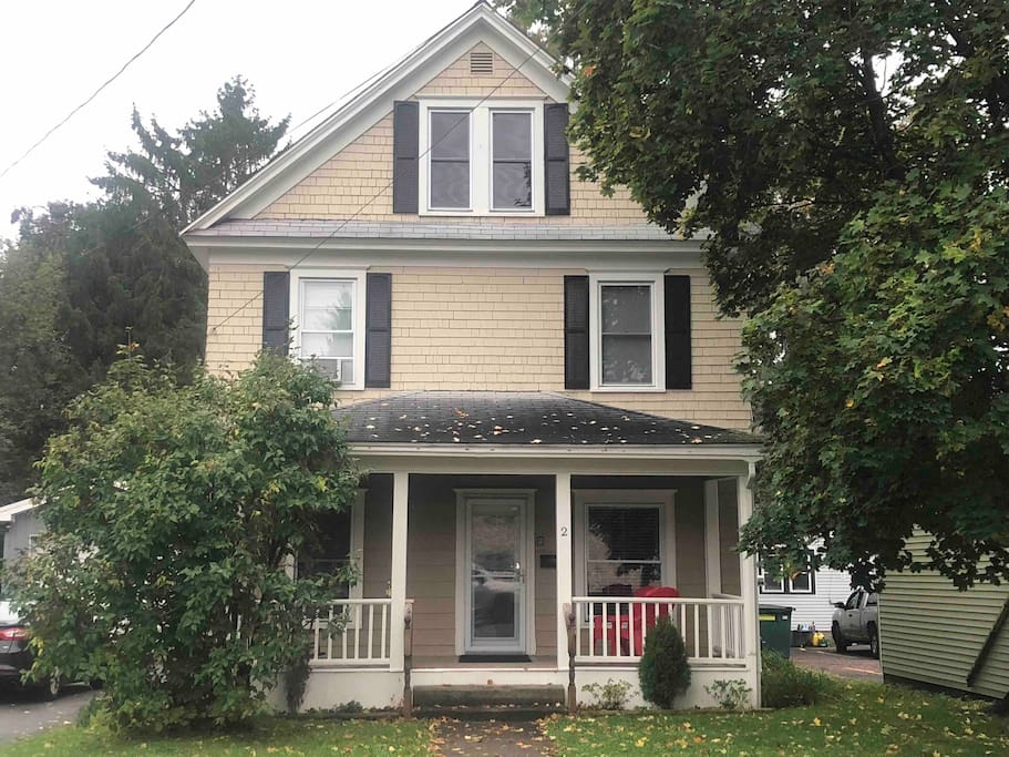 Full house with plenty of street parking, Front & rear porch. Grill out back!