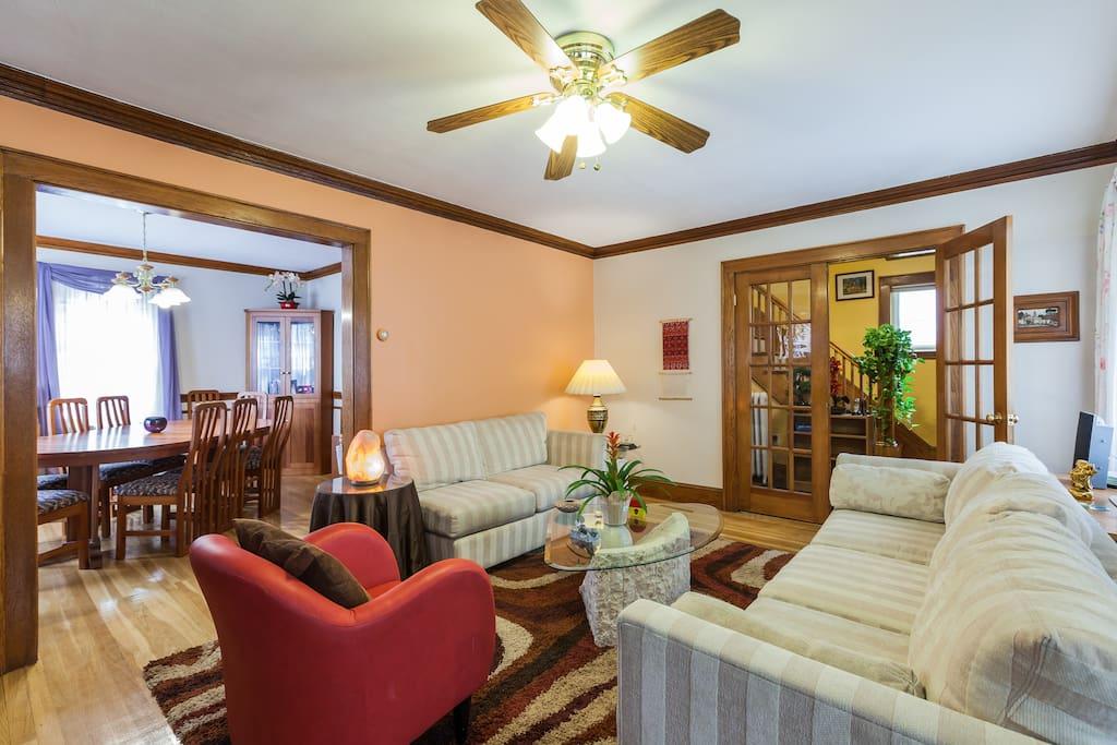 Living Room - Dining Room- Hallway