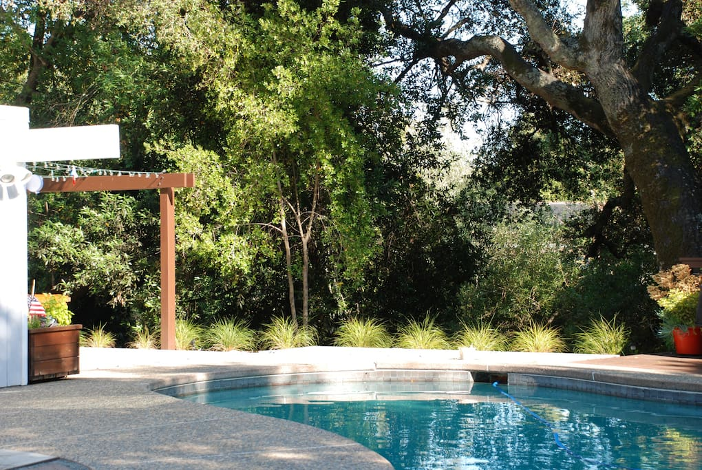 From mid-May to early October the pool is heated via thermal solar and runs between 78-85 degrees Farenheit