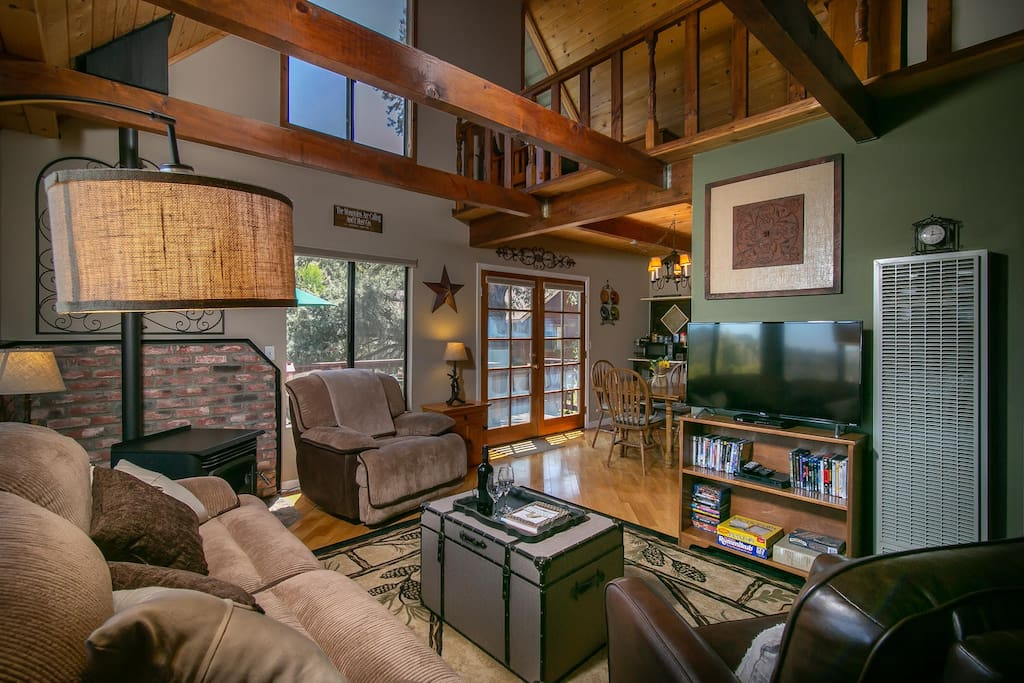 Family room and open loft.
