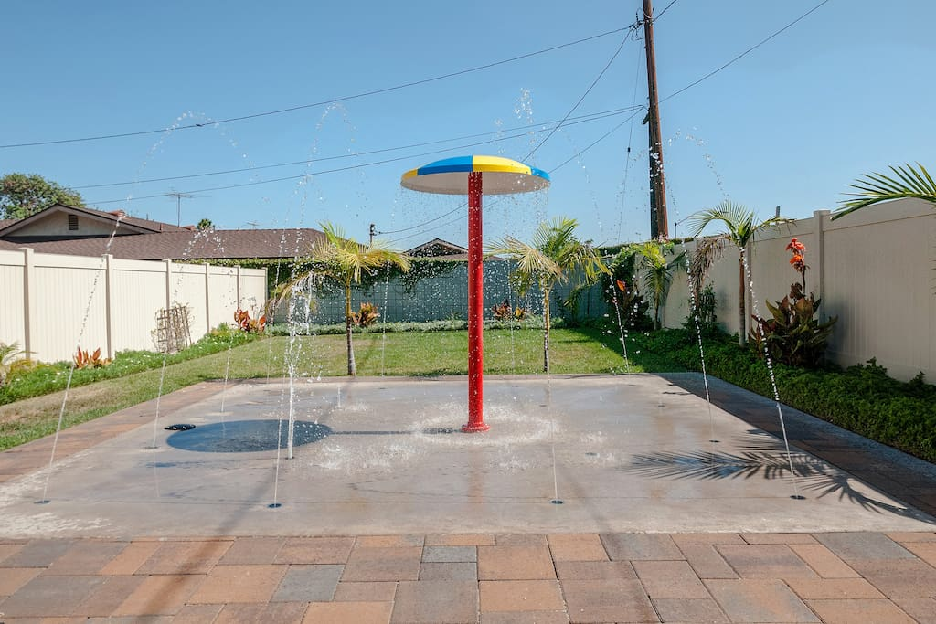 Splash pad provides hours of fun for the little ones.