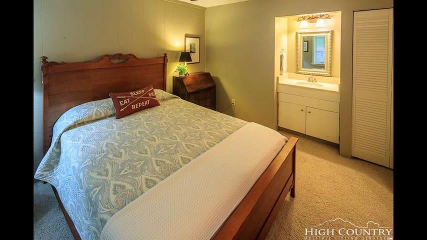 Bedroom #2 Queen + sink (first floor)
