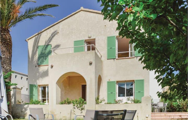 Beautiful home in Algajola with 3 Bedrooms