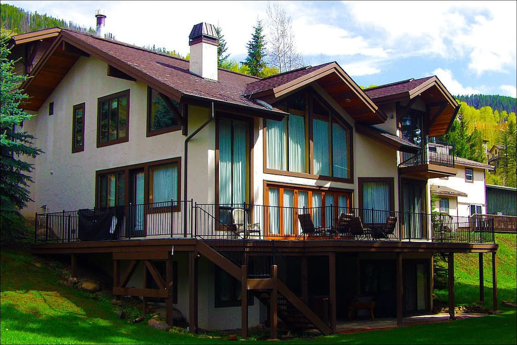 Large Deck Overlooking Gore Creek