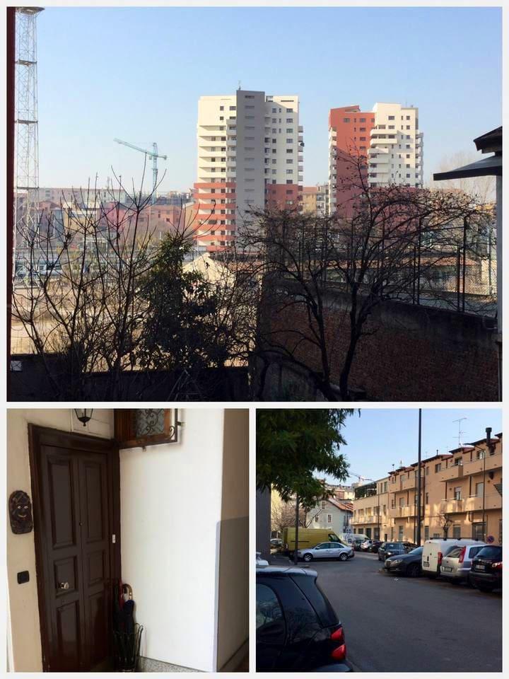 ingresso condominio e vista camera
