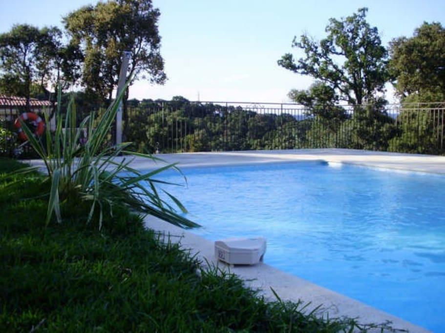 Zwembad zoutwater en verwarmd met zonnepanelen