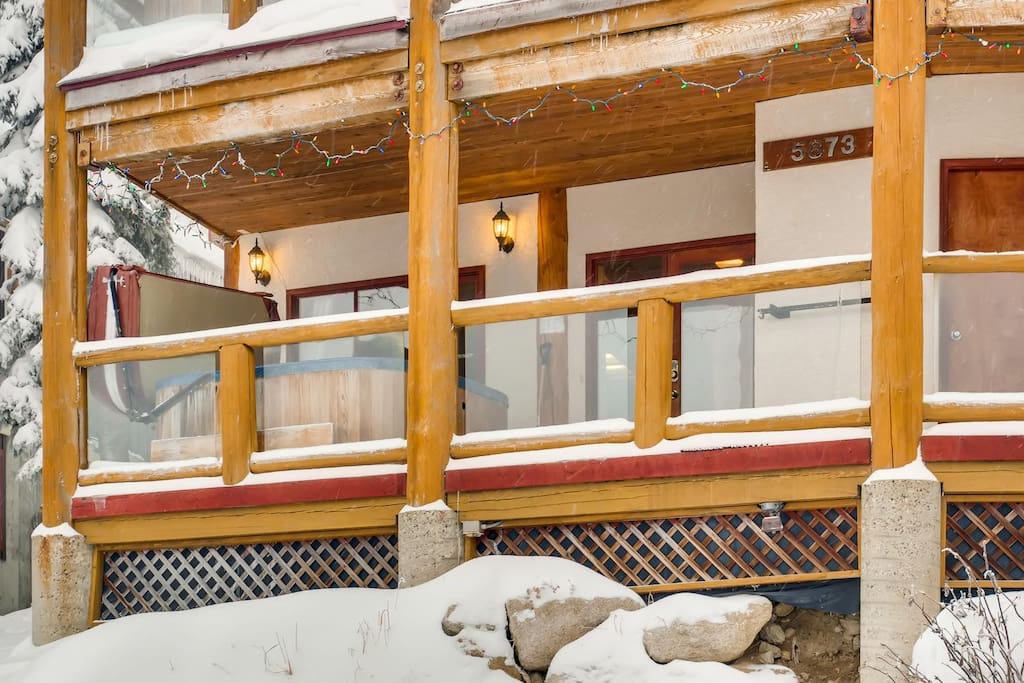 Exterior Hot Tub on Deck