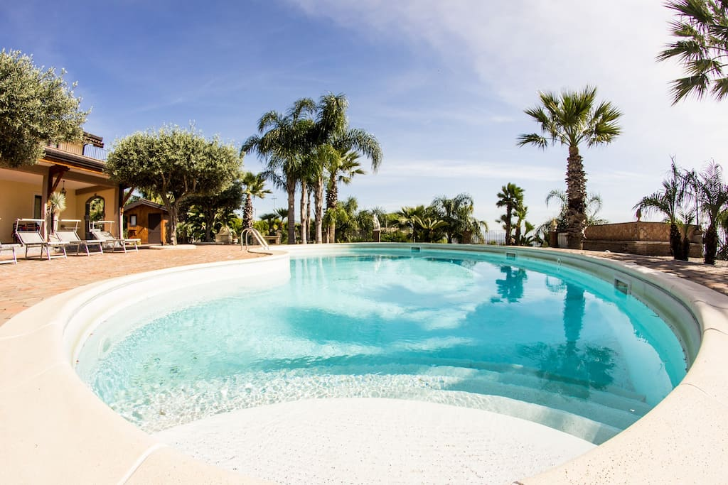 Swimming Pool - Suite-apartment in Villa - Rosemarine By SunTripSicily