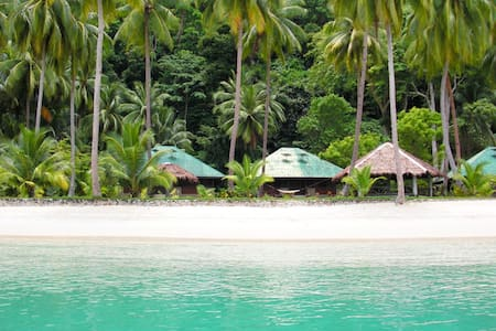 Isolated private Beach and House - Island