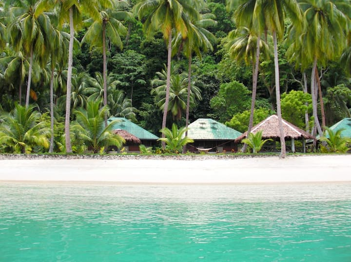 Isolated private Beach and House