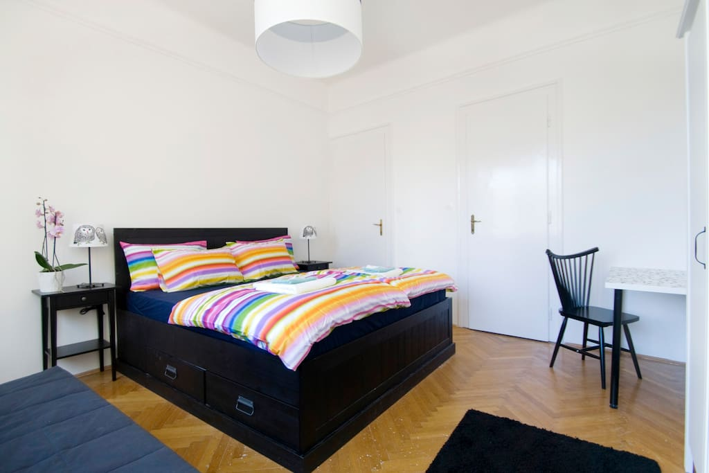 the comfortable bedrooms, which the guests of BUDAPESTING can enjoy have big and comfortable double beds and all the bedding and towels included in the price