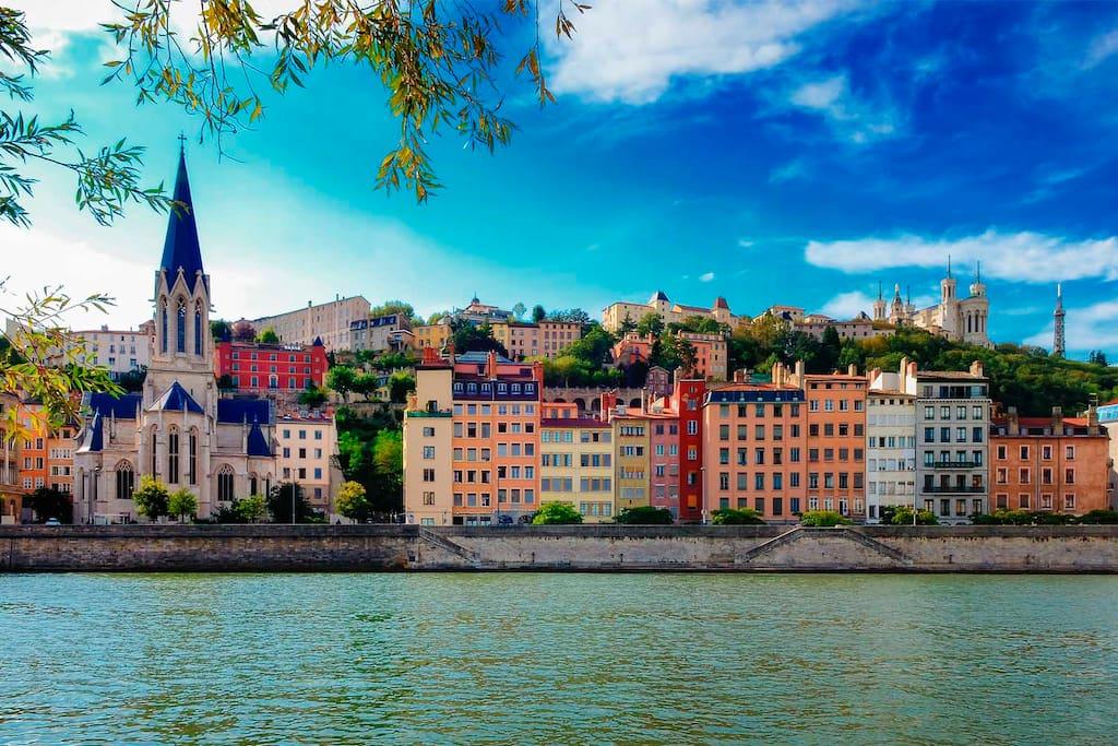 Quai de Saône (10min à pied)