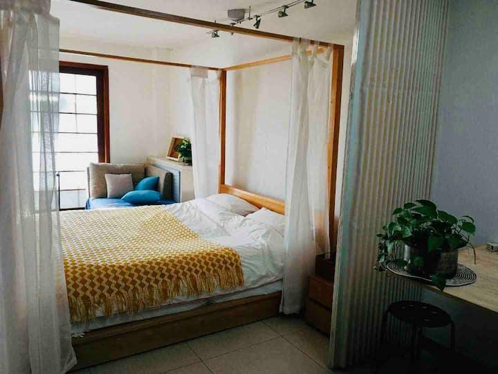 长租15-20%折国家会议中心鸟巢&中国音乐学院&社科院附近南亚风格超舒适大床+cozy沙发仅限女生