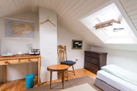 A cozy room under the roof downtown - Reykjavik