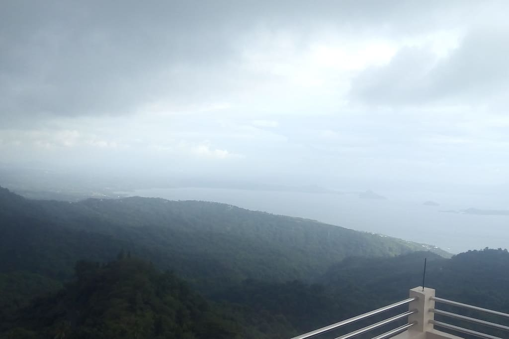 At the deck overlooking Taal Lake.
