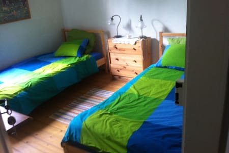 cute room with two single beds - Winterthur - Rumah