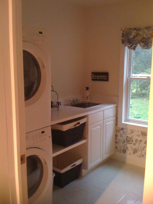 Laundry room off the kitchen.