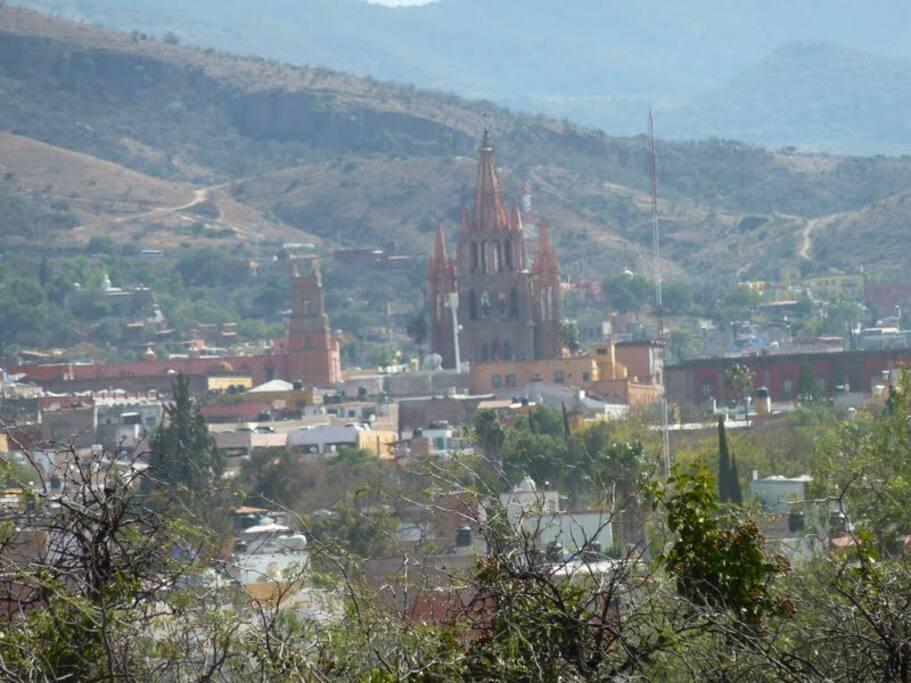 View from terrace of La Parroquia in El Centro....