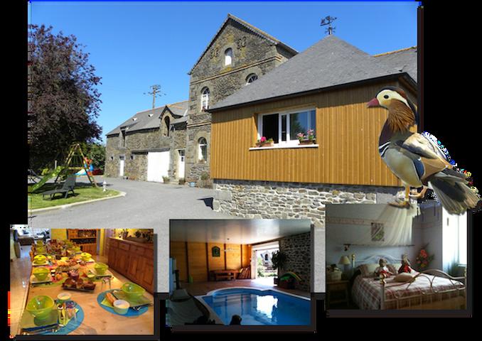 gite et chambres d'hôtes à la ferme - Roz-Landrieux - Leilighet