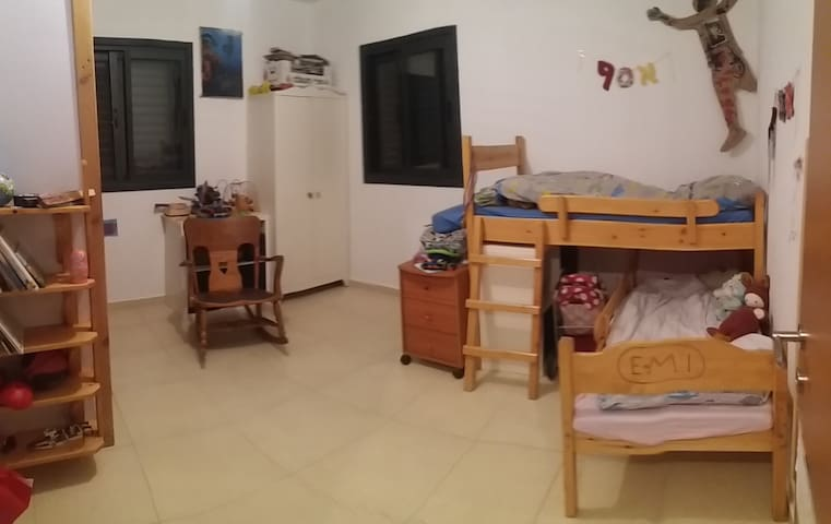 The kids bedroom.  Beds are 160 cm long.