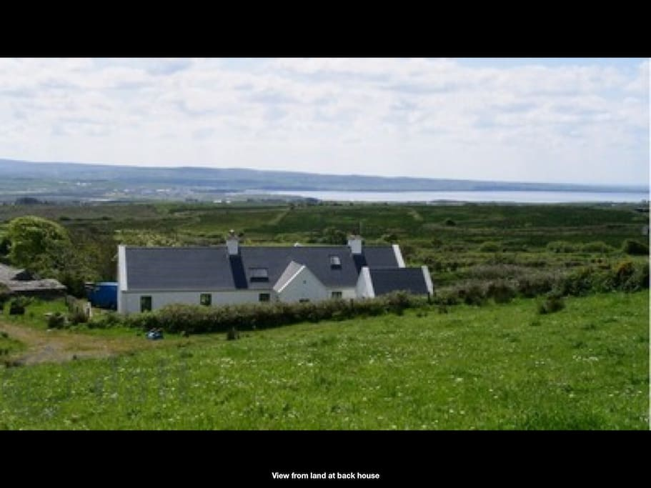 View over the house to Lahinch