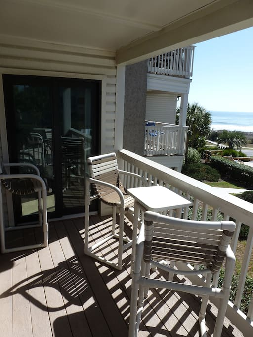 Entire Condo is Newly Renovated! Beautiful View of Pool and Ocean From Balcony.